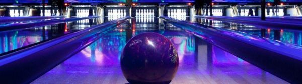 Bowling Lanes With Black Light
